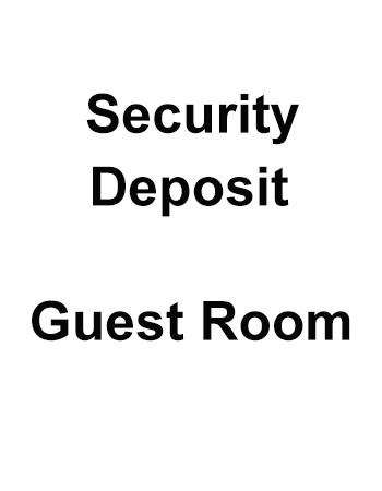 Security deposit - Villa Guest Room