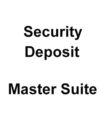 Security deposit - Villa Master Suite