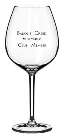 Wine Club Member Glass