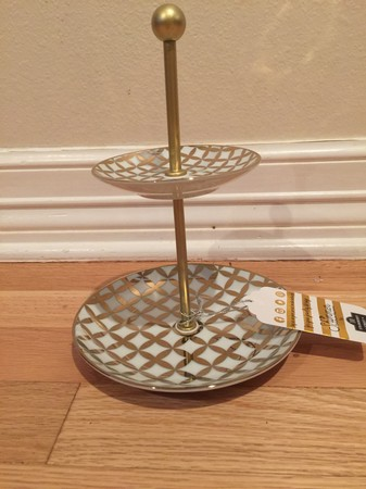 Gold Tiered Jewelry Tray
