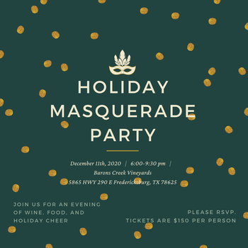 Holiday Masquerade Party