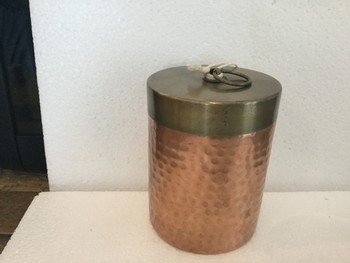 Hammered Canister Lg