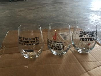 Game Day Wine Glasses
