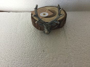 Metal Deer and Wood Napkin Ring