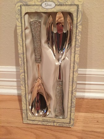 Silver Wedding Utensil Set