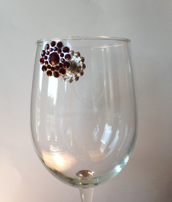 Flower Wine Glass Magnets
